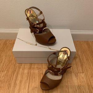 Authentic brown Michael Kors sandals